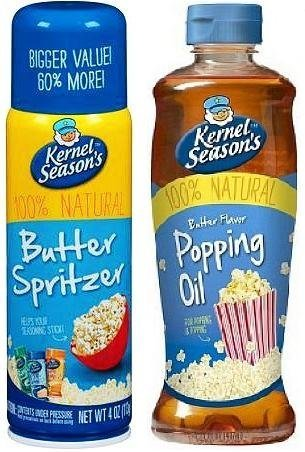 Kernel Season's Movie Theater Butter Popcorn Spritzer Spray and Natural Movie Theater Popping and Topping Oil by Kernel Season's (Topping Oil)