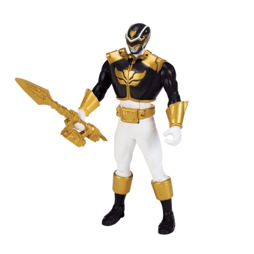 Power Rangers Megaforce 16cm Ultra Ranger Negro Morphin Con Luz