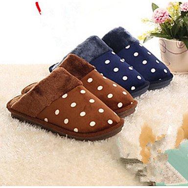 Sandalias de verano zapatos de hombre casual zapatillas de algodón azul / Marrón Brown