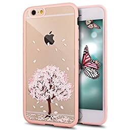iPhone 4S Case,iPhone 4 Case,ikasus Crystal Clear Hard PC & TPU 2 IN 1 Pink Cherry Blossoms Flower Painted Ultra Slim Thin Flexible Soft Silicone TPU Bumper Rubber Protective Case for iPhone 4S / 4,#1