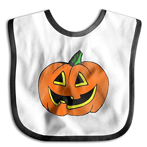 Halloween Pumpkin Clipart Baby Girl Teething Bib - Soft And Hypoallergenic