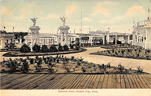 Kansas City Kansas Carnival Park General View Of Area Antique Postcard V15113