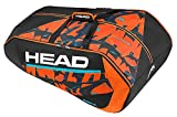 HEAD Radical 12 Racquet Monstercombi Racquet Bag, Black/Orange