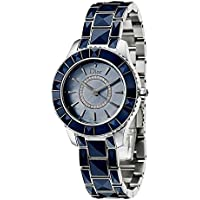 Dior Christal Diamond Blue Mother of Pearl Dial Women's Watch