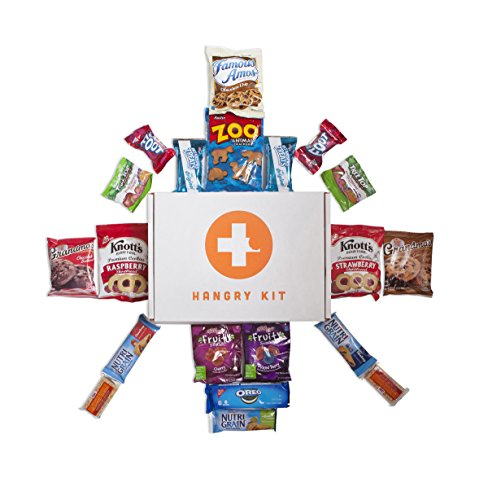HANGRY KIT - Sweet Kit - Snack Sampler - Care Package - Gift Pack - Variety of 20 Cookies, Crackers & Fruit Snacks Included - 100%
