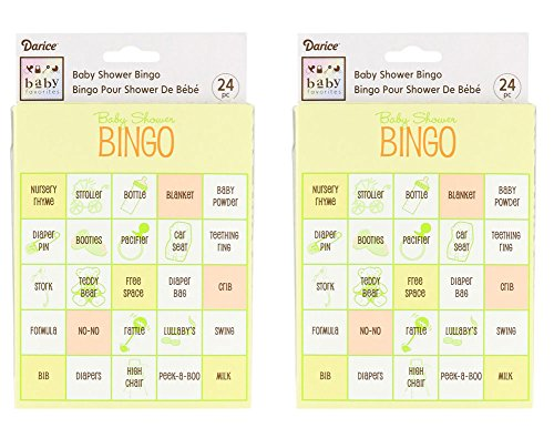 (Pack of 2) Baby Shower Bingo Game, 48 Total Cards (Baby Shower Game Cards)