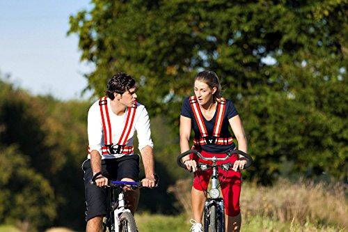 247 Viz Reflective Vest with Hi Vis Bands, Fully Adjustable & Multi-Purpose: Running, Cycling Gear, Motorcycle Safety, Dog Walking & More - High Visibility Neon Orange by 247 Viz (Image #7)