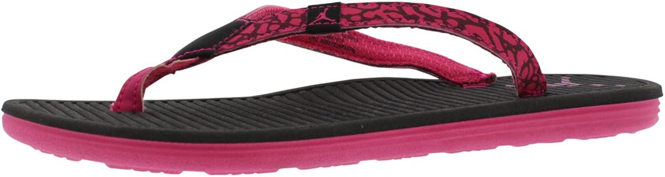 dc9472176230cb Nike Girl s Women s Jordan Flip Flops GG Sandals Black Vivid Pink Size ...