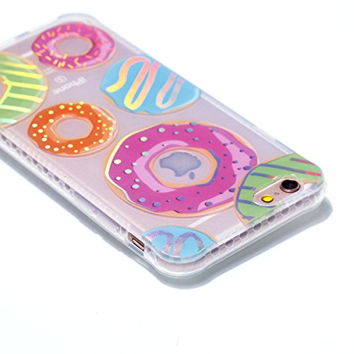 iPhone 6 Hülle, JIAXIUFEN Silikon Handy Hülle HandyHülle Hüllen Schutzhülle Case Cover für Apple iPhone 6 6S - Shiny Change Color Donuts Design
