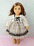 """(BLOW OUT!)** RUBY ROSE ** LONDON Style Dress & Lace Shrug ~ Fits 18"""" American Girl Dolls"""