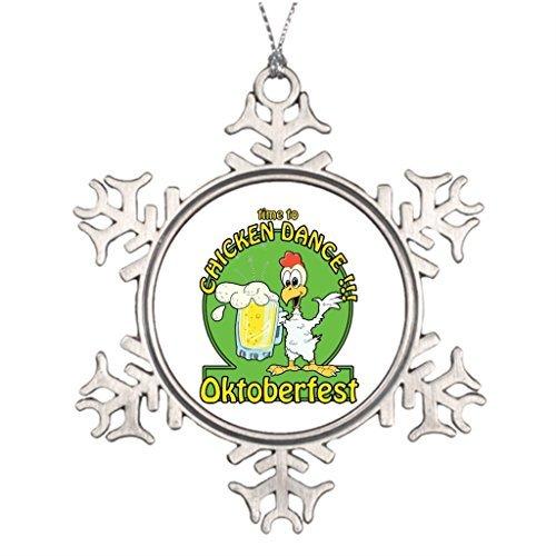 Christmas Snowflake Ornaments Custom Christmas Snowflake Ornaments Chicken Dance Oktoberfest Outside Snowflake Ornaments Old Fashioned Beaded Christmas Ornaments