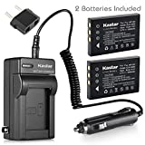 Kastar Battery (X2) & AC Travel Charger for Hewlett Packard A1812A, L1812A and HP PhotoSmart R07, R507, R607, R707, R717, R725, R727, R817, R818, R827, R837, R847, R926, R927, R937, R967