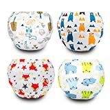 Toddler Training Underwear 4 Packs Padded Potty Training Pants for Boys and Girls, Cotton, Washable and Reusable 12M-3T