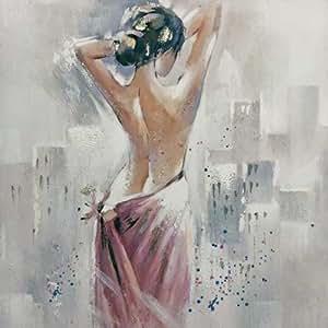Cuadro al óleo sobre lienzo diseño de mujer 2, 80x 100cm