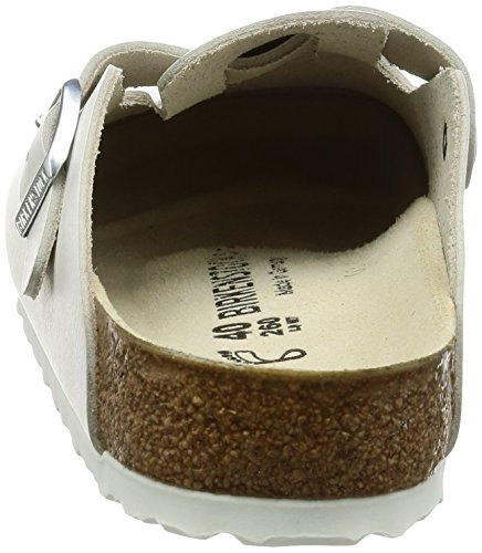 Boston Leather 37 M EU White Clog Birkenstock 7wdSaw