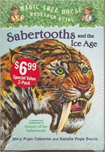 Magic Tree House 2 Book Set (Sunset of the Sabertooth #7, Sabertooths and the Ice Age) - Book #7 of the Magic Tree House