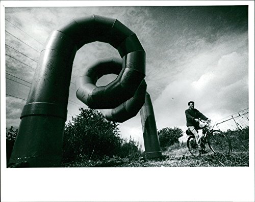 Helical Certificate - Vintage photo of 7ft high steel helical coil sculpture