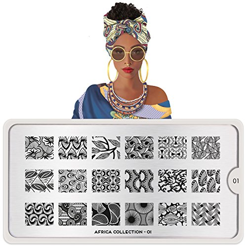 Africa Collection - MoYou-London Nail Art Africa Plate Collection 01
