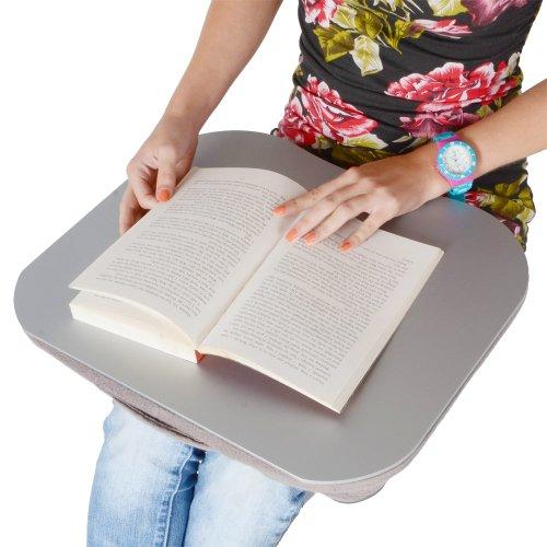 Portable Computer Work Writing Homework Lap Cushioned Laptop Table Azuma Desk Silver Reading wU4qX6qI