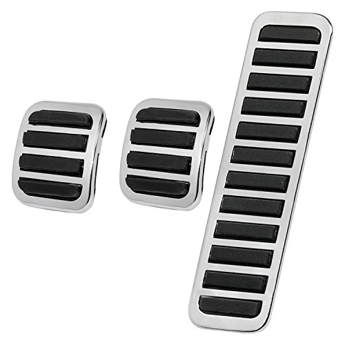 Performance Pedal Set - IAP Performance AC721971 Pedal Cover Set (Chrome for VW Beetle for VW Beetle)