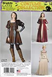 Simplicity Sewing Pattern C1773 1773 Misses Sizes 6-14 Medieval Style Dress Costume