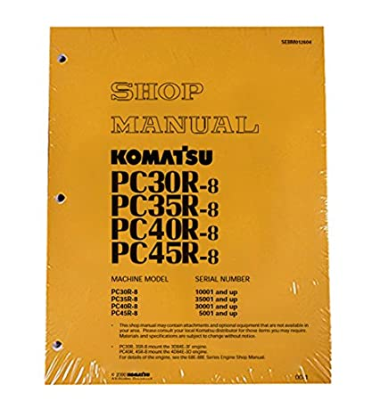 amazon com komatsu pc30r 8 pc35r 8 pc40r 8 pc45r 8 excavator rh amazon com Komatsu FG25T 11 Parts Manual Komatsu FG25T 14 Parts Manual