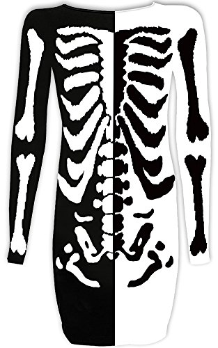 ong Sleeve Party Dresses -Skeleton