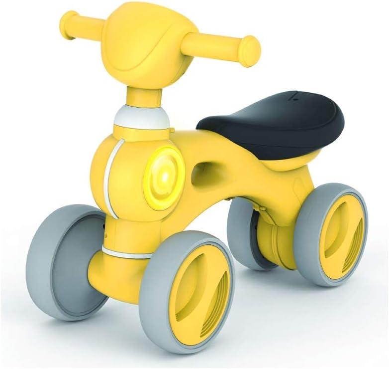Kiblcy Niños Niñas Trike Triciclos for niños pequeños Bicicletas plegables Trike 3 Ruedas Niños Caminando Sin pedal Pedales Bicicletas for niños pequeños con música ligera for niños de 1-6 años Regalo