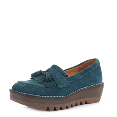 d5b01d9b499 Womens Fly London Juno Petrol Blue Loafers SIZE 6  Amazon.co.uk  Shoes    Bags