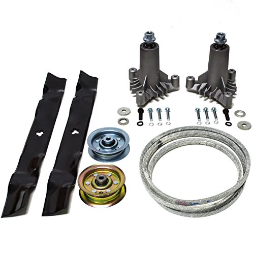"42"" Sears Craftsman LT1000 LT2000 LT3000 Rebuild Kit 144959 130794 134149 173437 Belt Made with Kevlar, Oregon Blades"