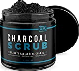 Image of Premium Activated Charcoal Scrub 10 oz.- All Natural Pore Minimizer - Reduces Wrinkles, Blackheads & Acne Scars, & Anti Cellulite Treatment - Great Body & Face Cleanser