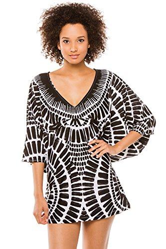 Trina Turk Women's Algiers Tunic Cover up, Black, X-Small
