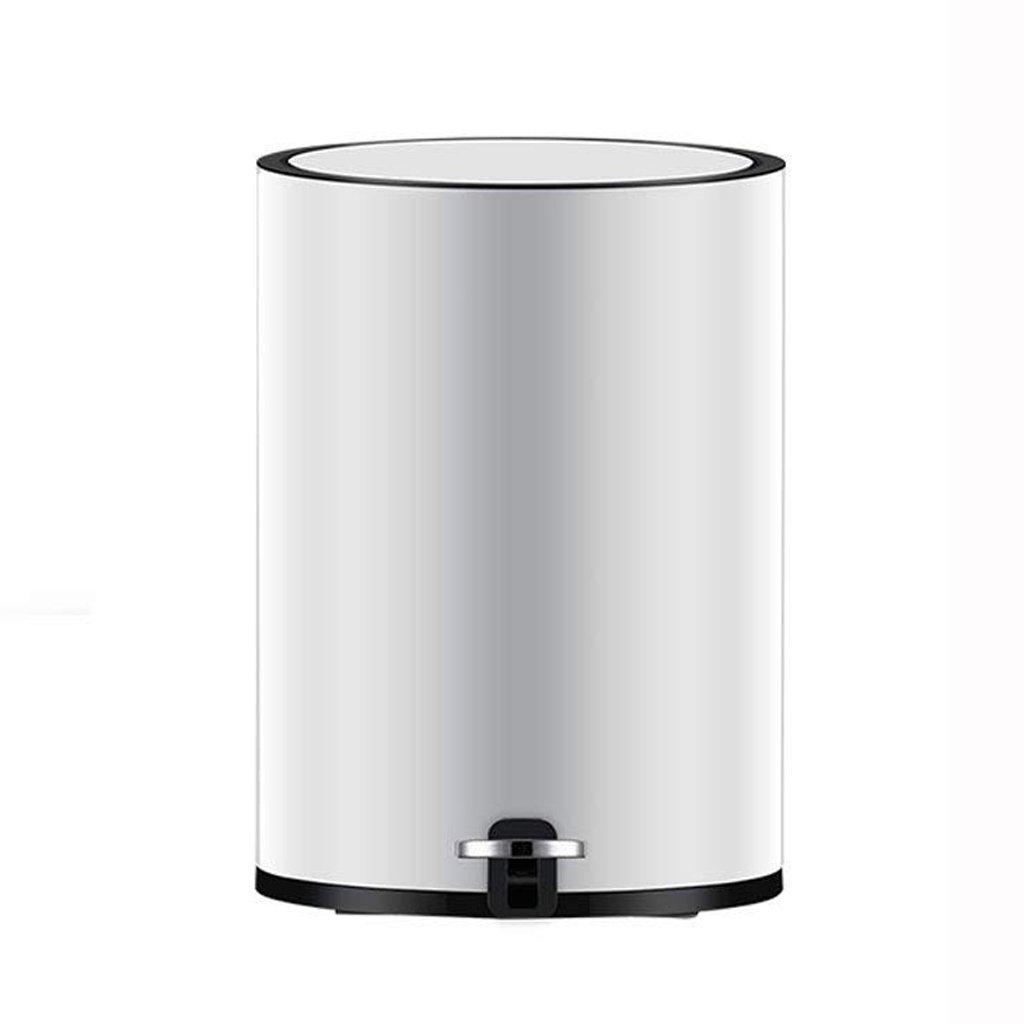 Jueven Modern Minimalist Quiet Pedal Trash Can Home European Living Room Kitchen Bathroom Bedroom Imitation Diamond Ring Pedal Trash Can (Size : L)