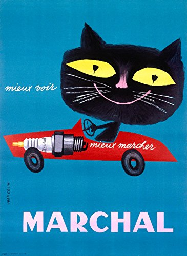 - Marchal Vintage Poster (artist: Colin) France (24x36 Fine Art Giclee Gallery Print, Home Wall Decor Artwork Poster)