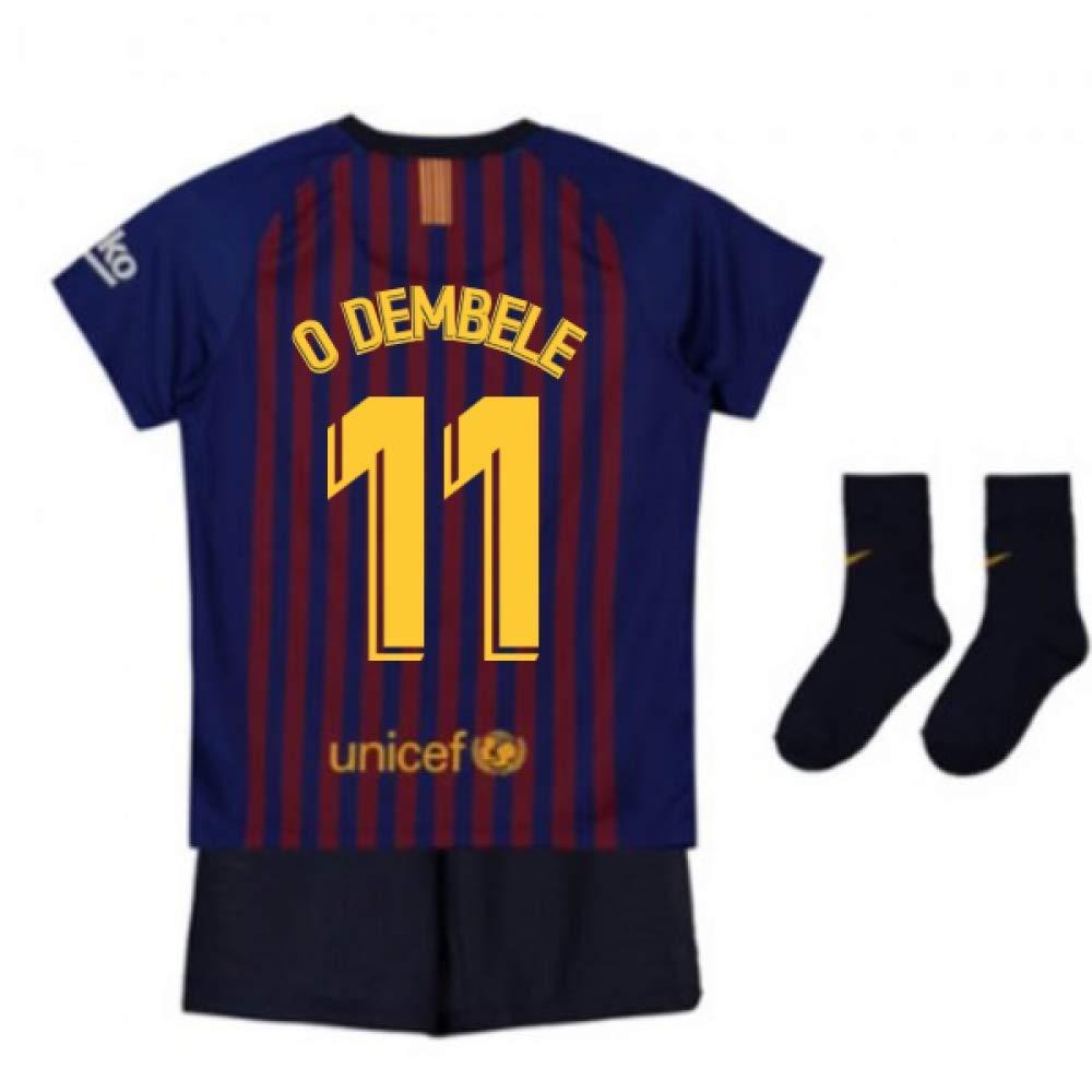 UKSoccershop 2018-2019 Barcelona Home Nike Baby Kit (Ousmane Dembele 11)