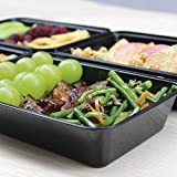 Enther Meal Prep Containers [12 Pack] Single 1 Compartment with Lids, Food Storage Bento Box | BPA Free | Stackable | Reusable Lunch Boxes, Microwave/Dishwasher/Freezer Safe,Portion Control (28 oz)