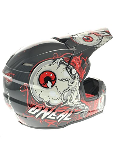 Amazon.com : ONeal Racing 5 Series Mutant Helmet - X-Small/Black/Red : Powersports Helmets : Sports & Outdoors
