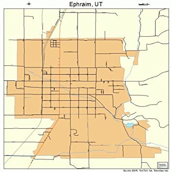 Amazon.com: Large Street & Road Map of Ephraim, Utah UT - Printed ...
