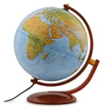Waypoint Geographic Gibraltar 12'' Globe with Multi-Directional Wooden Meridian & Base Perfect for Home & Office (Physical Ocean) World, Blue, 3.5 Lb