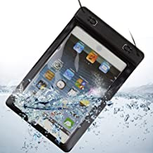 Waterproof Dry Pouch Diving Box Case for Ipad Mini / Samsung Galaxy Tab 3 4 8 inch / Samsung Note 8.0 and Other Same Size 8 inch Tablets (Black)