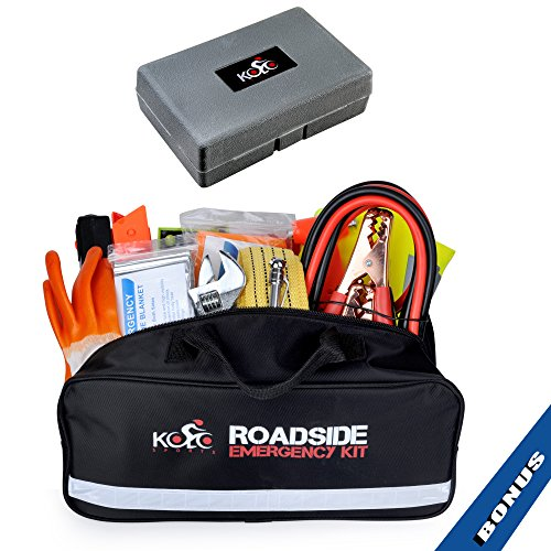 Auto Emergency Kit 125-Piece Multipurpose Emergency Pack - Great for Automotive Roadside Assistance & First Aid Set - The Ultimate All-in-One Solution ()