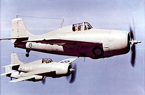 (Home Comforts Laminated Poster Three U.S. Navy Grumman F4F-3/3A Wildcats of Fighting Squadron VF-5 from The Aircraft Carrier USS Yo)
