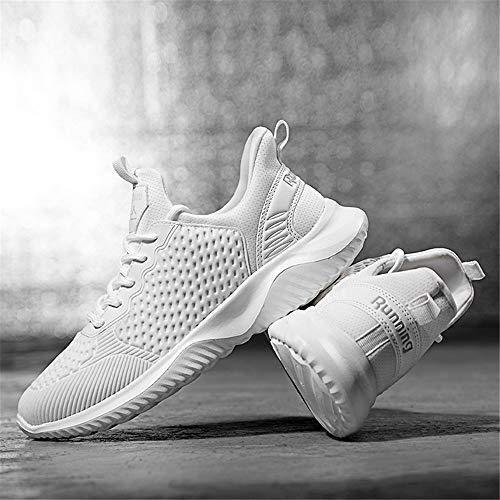 All'aperto Ginnastica Sportive Running Rosa Da Palestra Sneakers Donna Scarpe Fitness Nero Basse Bianco Bianca Corsa Casual qC4YvEw