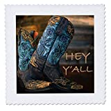 3dRose Stamp City - Fashion - Photograph of Cowgirl Boots...