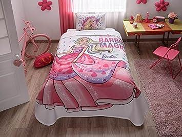 Barbie 100% Algodon 3 piezas funda nordica ropa de cama juego de