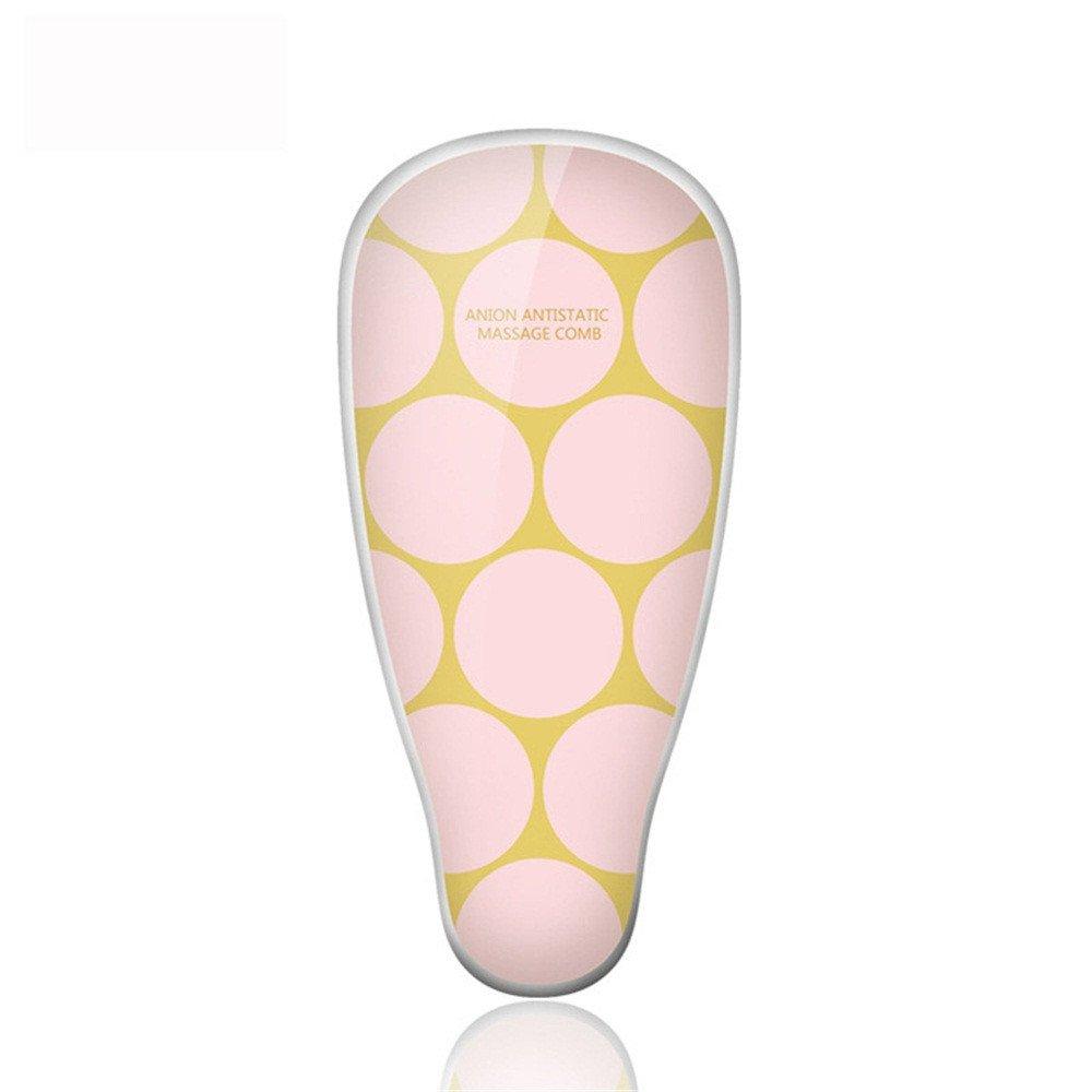 Peine de masaje Cepillo Alisador Electrico deVibration, plancha de pelo, peines de peine de iones negativos, anti-estáticos, onda rosa: Amazon.es: Belleza