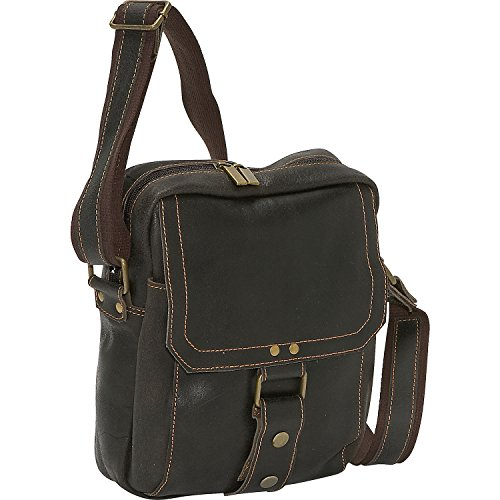 David King & Co Distressed Leather Man Messenger Bag in