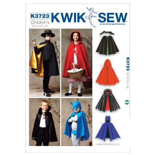 Kwik Sew K3723 Capes Sewing Pattern, Size (Riding Hood Costume Pattern)
