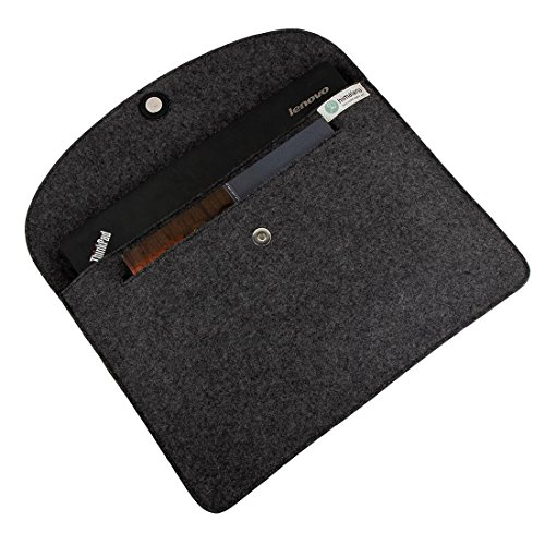Mojopanda Virgin Organic Wool Felt 13-13.5 Inch Macbooks, Laptop Grey Sleeve Case Carrying Bag With 2 Back Pouches For Mobile Phones And An Inner Packet For Tab, Ipad Or Power Chord. by MOJO PANDA (Image #7)'