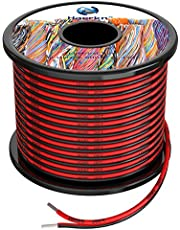 18 awg Silicone Electrical Wire 2 Conductor Parallel Wire line 60ft [Black 30ft Red 30ft] 18 Gauge Soft and Flexible Hook Up Oxygen Free Strands Tinned Copper Wire
